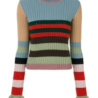 Indie Designs Striped Wool and Cashmere Sweater