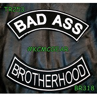 BAD ASS BROTHERHOOD Rocker 2 Patches Set Sew on for Vest Jacket