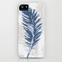 My blue feather iPhone & iPod Case by Juliagrifol designs