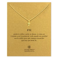 fe cross necklace, gold dipped - Dogeared