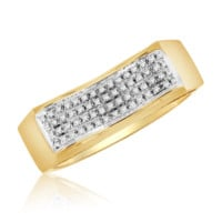Diamond Micropave Mens Ring 0.12 Cttw in 10KT