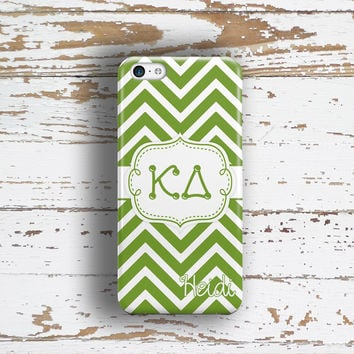 KAPPA DELTA - THIN GREEN CHEVRON - KD SORORITY IPHONE CSE
