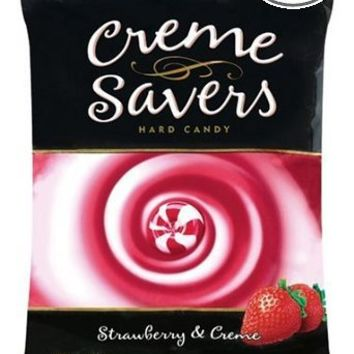Creme Savers Hard Candy Strawberry & Creme, 6-Ounce Bags (Pack of 12)