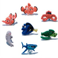 Single Sale 1pc Finding Nemo pvc shoe charms DIY shoe accessories shoe buckle for croc jibz for wristbands bands kids gift