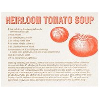 Heirloom Tomato Soup Recipe Greeting Card