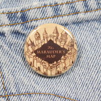 The Marauder's Map 1.25 Inch Pin Back Button Badge