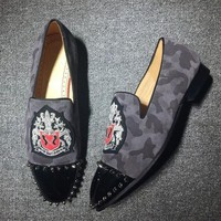 DCCK2 Cl Christian Louboutin Loafer Style #2410 Sneakers Fashion Shoes