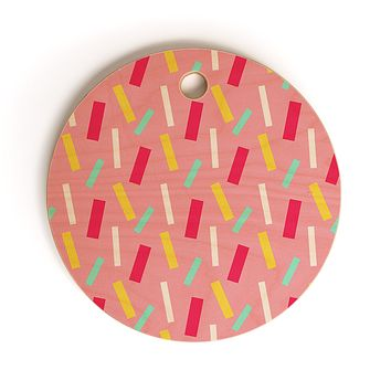 Allyson Johnson Confetti party Cutting Board Round