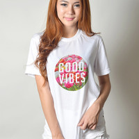 Good Vibes TShirt Instagram Pinterest Tumblr Hipster Tee Shirt Teen Clothes Teenager Fashion Top Women Streetwear Clothing Tops T-shirts