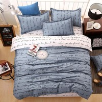 Love Bedding Sets 100% Cotton Bed Linen Duvet pillow Quilt Cover Set comforter bed sheet  Single/Double/Queen Size Quilted