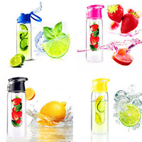 Free Shipping New 800ML Fruit Infusing infuser Plastic Water Glass Bottle Hydration Sport Healthy Water Cup