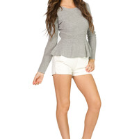 Peplum Sweater Grey