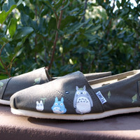 Made to Order  OOAK Hand Painted Custom Toms  Any by kammylee