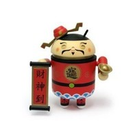 """Android Mini Collectible Figure 3"""" Exclusive Limited Asia Edition Chinese New Year 2011 God of Wealth Toy"""