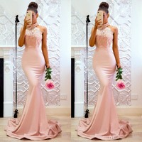 New Arrival Elegant Evening Celebrity Party Long Mermaid Party Dress Wedding Backless Dresses Dress Sexy Clubwear