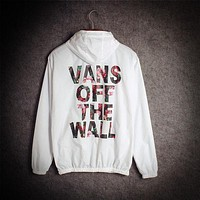 Vans of the wall Fashion Print Cardigan Jacket Coat Windbreaker