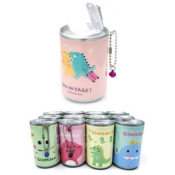 Adorable Dinosaur Pop Can Sanitizing Wipes Keychain