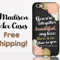 You Are Altogether Beautiful, my love; There Is No Flaw In You Song Of Solomon 4:7 Phone Case