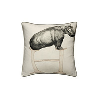Linen with Letter H Print Cushion   Andrew Martin Animal Alphabet H