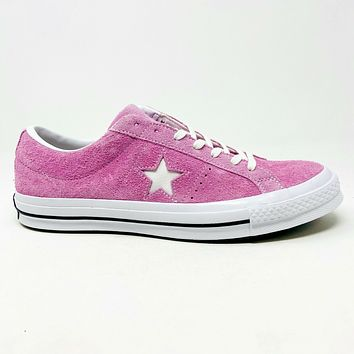Converse One Star Ox Light Orchard Pink Suede 159492C Mens Size 11.5