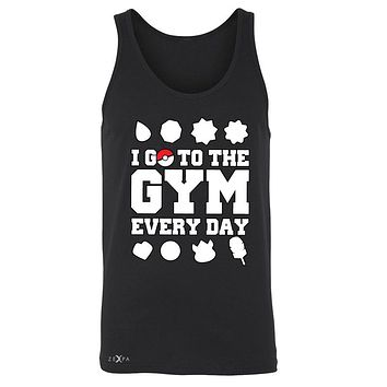 Zexpa Apparel™I Go To The Gym Every Day Men's Jersey Tank Poke Shirt Fan Sleeveless