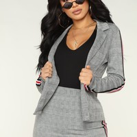Moving Up Blazer - Grey