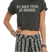 No Such Thing As Normal Girls Crop Top 3XL