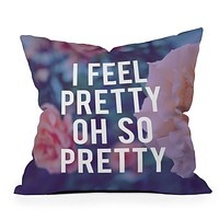 Leah Flores So Pretty Throw Pillow
