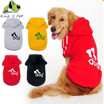 Large Dog Clothes Coat Hoodies Clothing For Dog Big Size Spring Warm Hoodie Apparel Sportswear perros mascotas Adidog Golden Dog