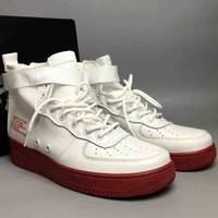 NIKE SF-AF1 MID Air Force One Trendy High Top Shoes F-CSXY white+red