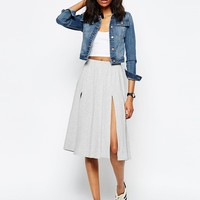 ASOS Midi Skirt with Splices at asos.com