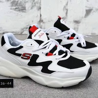 """SKECHERS"" Unisex Sport Fashion Tide Multicolor Thick Bottom Panda Sneakers Couple Casual Shoes"