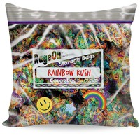 Rainbow Kush Weed Bag Couch Pillow