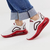 Nike Air Max 720 Women Casual Air Cushion Sport Running Shoes Sneakers White&Red