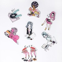 Record Gals Sticker Packet