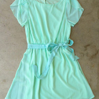 Sweet Mint Tulip Dress [3596] - $36.00 : Vintage Inspired Clothing & Affordable Fall Frocks, deloom | Modern. Vintage. Crafted.