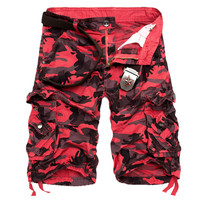 Plus Size 2016 Shorts Men Masculina Summer Style Camouflage Cargo Military Shorts Casual Loose Pockets Short 6 Colors Hot Sale