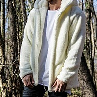 Men Thick Warm Fleece Coat SportWear Hoodies