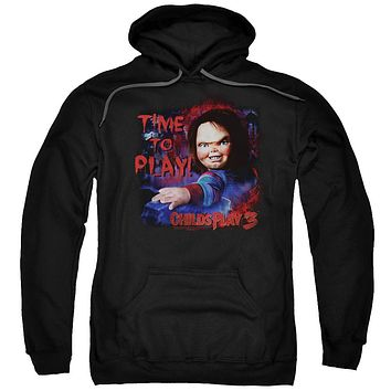 Childs Play Hoodie Chucky Time To Play Black Hoody
