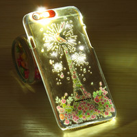 Calling Flash Phone Cases For iPhone 6 6S for 6 6S Plus 5S SE Case Luminous Clear Light Cover for iPhone 6 6S 4.7 Plus 5.5 5s SE