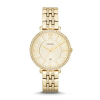 Jacqueline Three-Hand Date Stainless Steel Watch - Gold-Tone