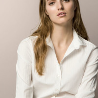 SHIRT WITH A STRIPED TEXTURED WEAVE - Shirts & Blouses - WOMEN - España (Excepto Canarias)/Spain (except the Canary Islands)