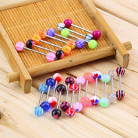 20pcs/set Sexy jewelry Colorful Assorted Ball Tongue Nipple Bar Ring Barbell Piercing Tongue Body Jewelry 2016 Hot