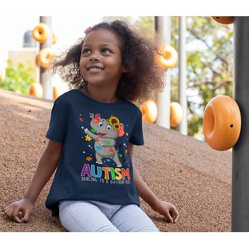 Kids Autism Elephant T Shirt Dancing To Different Beat Autism Shirt Cute Autism T Shirt Autism Awareness Shirt