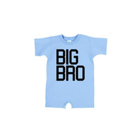 BIG BRO - Rabbit Skins T Romper | Baby Clothes Onesuits Creeper Toddler Shirts | New Baby New Brother New Sister Matching Dad and Son Shirts