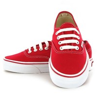 Vans Classic Authentic Red Womens Trainers Size 6.5 US