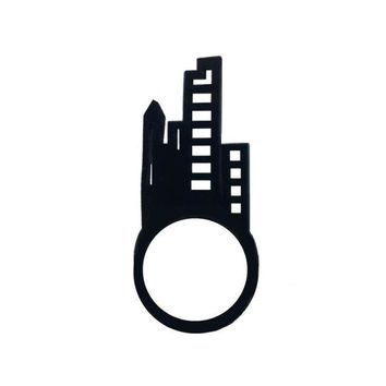 cityscape art rubber ring | Caipora Jewellery