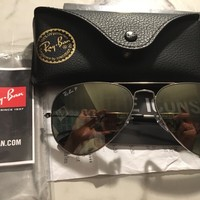 Ray Ban Aviator Classic Polarized Light Grey Sunglasses RB3025-003-5958-14