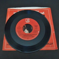 Clint Eastwood Merle Haggard Duet 45 RPM Record Bar Room Buddies 1980 Bronco Billy Collectible Movie Music Record