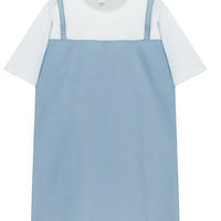 Two Pieces Dress with White Tee